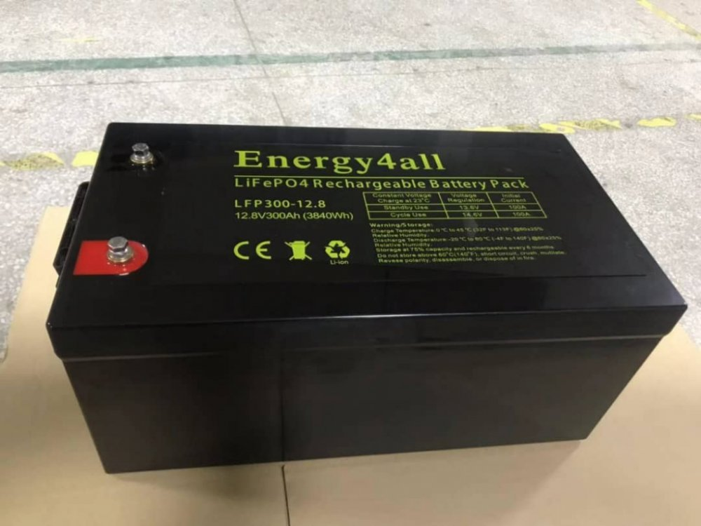 Energy4ALL LithiumLiFePO4 12V 300Ah  foto: 0